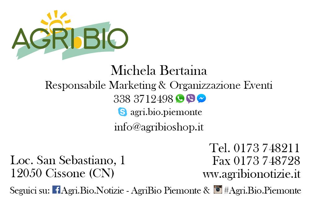 bigliettino Agribio michela